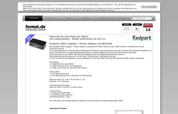 Vorschau von www.format.de, Format.de Distribution GmbH
