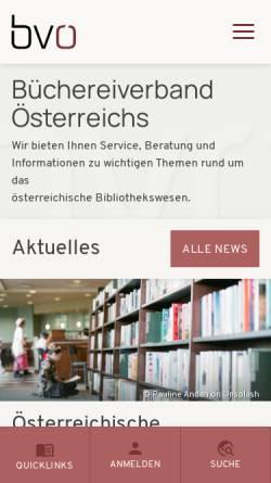 Vorschau der mobilen Webseite www.bvoe.at, Büchereiverband Österreichs