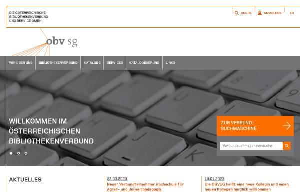 Vorschau von www.obvsg.at, Österreichischer Bibliothekenverbund