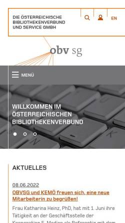 Vorschau der mobilen Webseite www.obvsg.at, Österreichischer Bibliothekenverbund