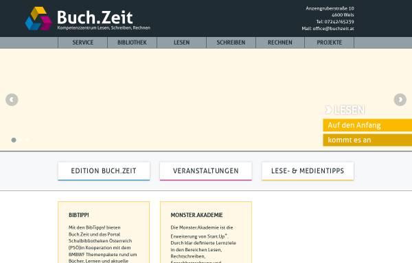 Vorschau von www.buchzeit.at, Schulbibliothek.at