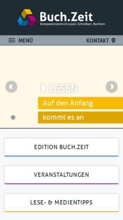 Vorschau der mobilen Webseite www.buchzeit.at, Schulbibliothek.at