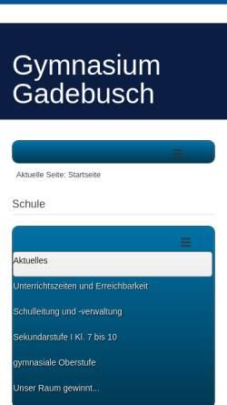 Vorschau der mobilen Webseite www.gymnasiumgadebusch.de, Gymnasium Gadebusch