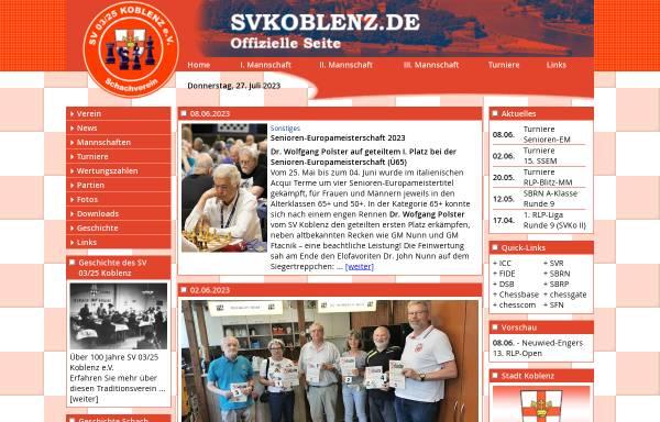 Vorschau von www.svkoblenz.de, SV 03/25 Koblenz e.V.
