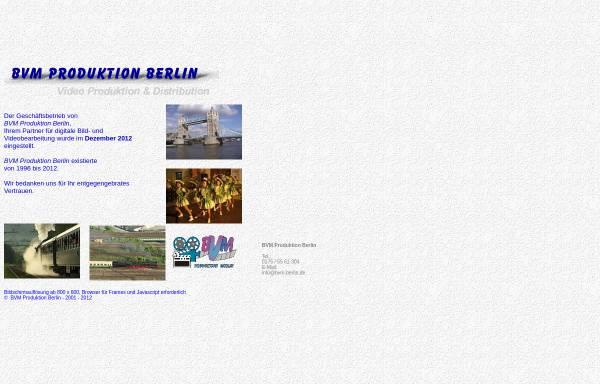 Vorschau von www.bvm-berlin.de, BVM Produktion Berlin