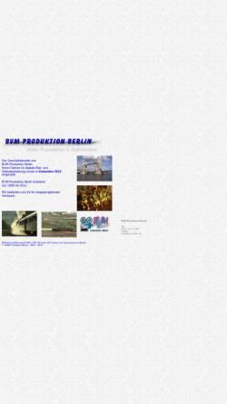 Vorschau der mobilen Webseite www.bvm-berlin.de, BVM Produktion Berlin