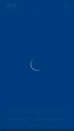 Vorschau der mobilen Webseite www.molkerei-weihenstephan.de, Staatliche Molkerei Weihenstephan