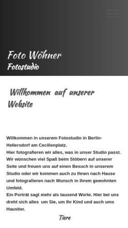 Vorschau der mobilen Webseite www.foto-woehner.de, Foto Wöhner - Porträtfotograf