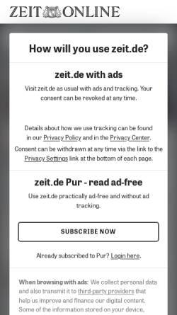Vorschau der mobilen Webseite www.zeit.de, Die Schlacht auf dem Schulhof