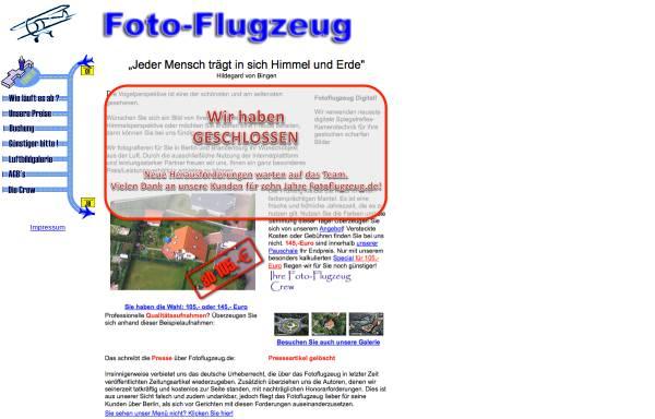 Vorschau von www.fotoflugzeug.de, Fotoflugzeug - Luftbilder aus Berlin und Brandenburg