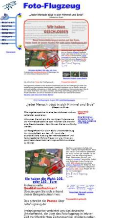 Vorschau der mobilen Webseite www.fotoflugzeug.de, Fotoflugzeug - Luftbilder aus Berlin und Brandenburg