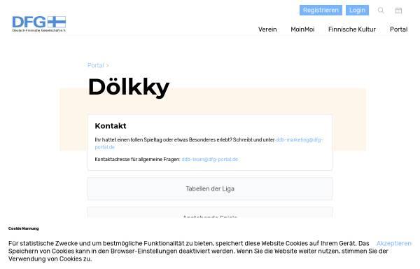 Vorschau von www.dfg-portal.de, Portal der Deutsch-Finnischen Gesellschaft e.V.