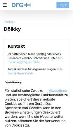 Vorschau der mobilen Webseite www.dfg-portal.de, Portal der Deutsch-Finnischen Gesellschaft e.V.