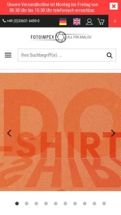 Vorschau der mobilen Webseite www.fotoimpex.de, Fotoimpex