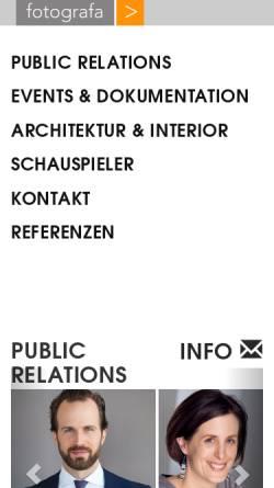 Vorschau der mobilen Webseite www.fotografa.de, Fotostudio fotografa