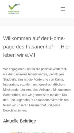 Vorschau der mobilen Webseite fasanenhof-hierlebenwir.de, Fasanenhof