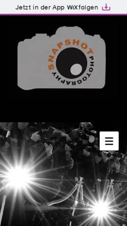 Vorschau der mobilen Webseite www.snapshot-photography.de, Photography by Snapshot - Tobias Seeliger
