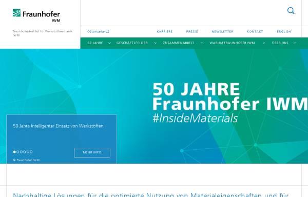Vorschau von www.iwm.fraunhofer.de, Fraunhofer-Institut für Werkstoffmechanik