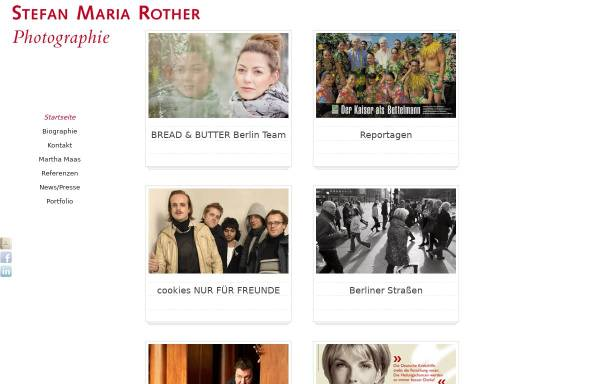 Vorschau von www.stefanmariarother.com, Stefan Maria Rother - Fotograf
