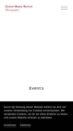 Vorschau der mobilen Webseite www.stefanmariarother.com, Stefan Maria Rother - Fotograf