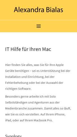 Vorschau der mobilen Webseite www.webvorhersage.de, Alexandra Bialas