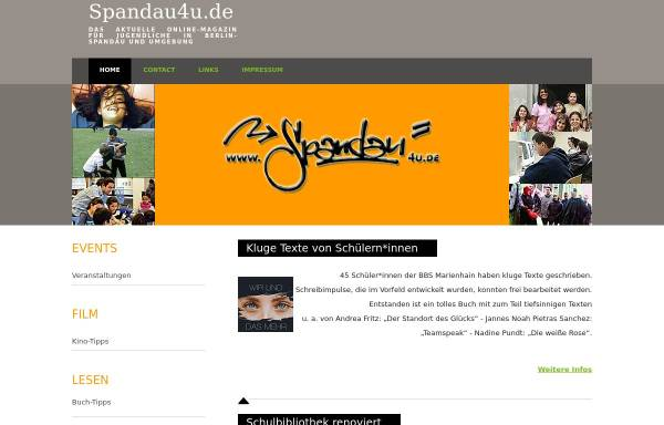Vorschau von www.spandau4u.de, Spandau4u - das Online-Magazin