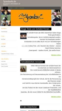Vorschau der mobilen Webseite www.spandau4u.de, Spandau4u - das Online-Magazin