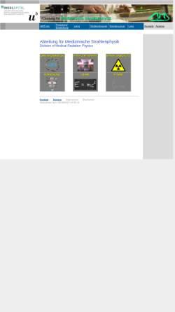 Vorschau der mobilen Webseite www.ams.unibe.ch, Bern - Abteilung für Medizinische Strahlenphysik (AMS) der Universität