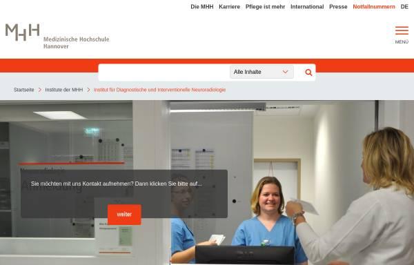 Vorschau von www.mh-hannover.de, Hannover - Institut für Diagnostische und Interventionelle Neuroradiologie