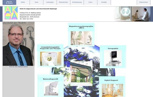 Vorschau von www.radiologie-ruhrgebiet.de, Institut für Radiologie, Nuklearmedizin und Radioonkologie