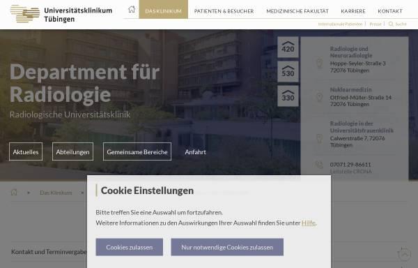 Vorschau von www.medizin.uni-tuebingen.de, Tübingen - Abteilung für Diagnostische und Interventionelle Radiologie der Universität