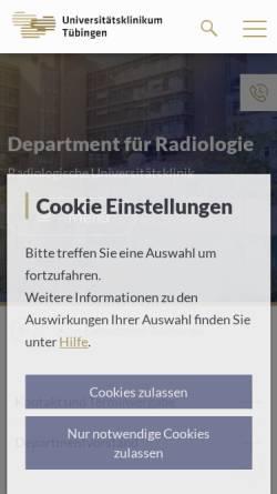 Vorschau der mobilen Webseite www.medizin.uni-tuebingen.de, Tübingen - Abteilung für Diagnostische und Interventionelle Radiologie der Universität
