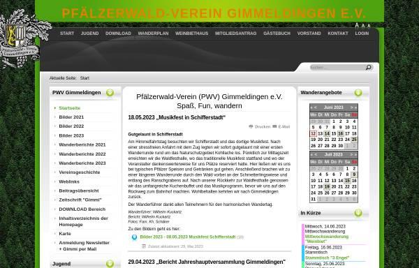 Vorschau von www.pwv-gimmeldingen.de, Pfälzerwald-Verein Ortsgruppe Gimmeldingen