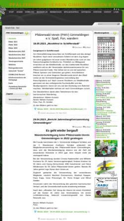 Vorschau der mobilen Webseite www.pwv-gimmeldingen.de, Pfälzerwald-Verein Ortsgruppe Gimmeldingen