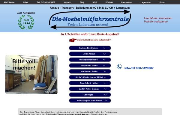 Vorschau von www.die-moebelmitfahrzentrale.de, Möbelmitfahrzentrale