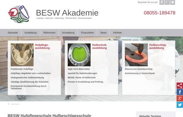 Vorschau von www.besw.de, BESW Hufakademie