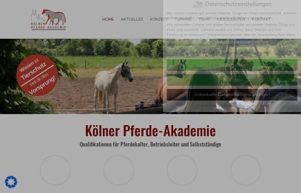 Vorschau von www.koelnerpferdeakademie.de, Kölner Pferde-Akademie