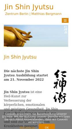 Vorschau der mobilen Webseite www.jin-shin-jyutsu-berlin.de, Jin Shin Jyutsu Zentrum Berlin