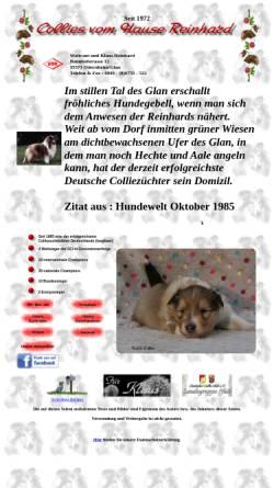 Vorschau der mobilen Webseite www.reinhard-collies.de, Vom Hause Reinhard