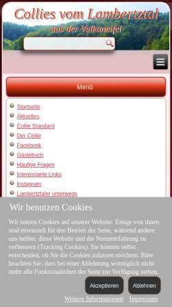 Vorschau der mobilen Webseite www.colliesvomlambertztal.de, Vom Lambertztal