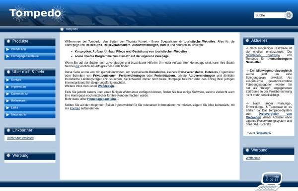 Vorschau von www.tompedo.de, Tompedo Thomas Kunert