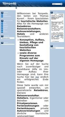 Vorschau der mobilen Webseite www.tompedo.de, Tompedo Thomas Kunert
