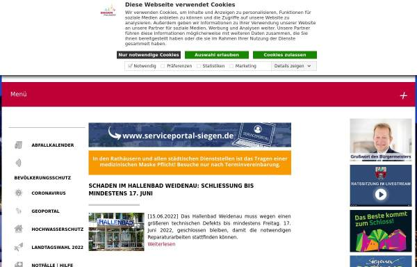 Vorschau von www.siegen.de, Stadt Siegen