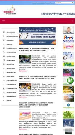 Vorschau der mobilen Webseite www.siegen.de, Stadt Siegen