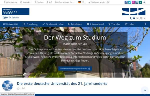 Vorschau von www.uni-due.de, Fachbereich Geographie und Biologie Duisburg/Essen
