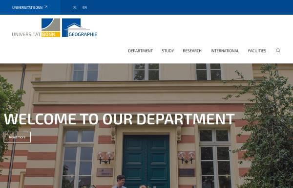Vorschau von www.giub.uni-bonn.de, Geographisches Institut der Friedrich-Wilhelms-Universität Bonn