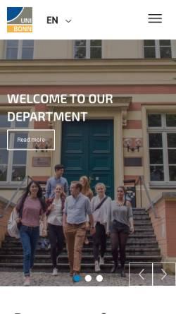 Vorschau der mobilen Webseite www.giub.uni-bonn.de, Geographisches Institut der Friedrich-Wilhelms-Universität Bonn