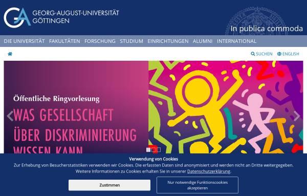 Vorschau von www.uni-goettingen.de, Geographisches Institut der Georg-August-Universität Göttingen