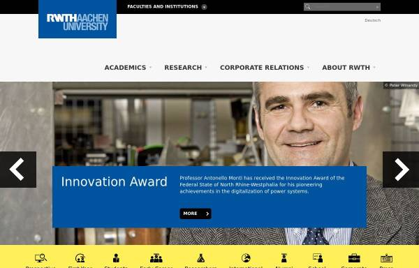 Vorschau von www.rwth-aachen.de, Geographisches Institut der Rheinisch-Westfälischen Hochschule Aachen
