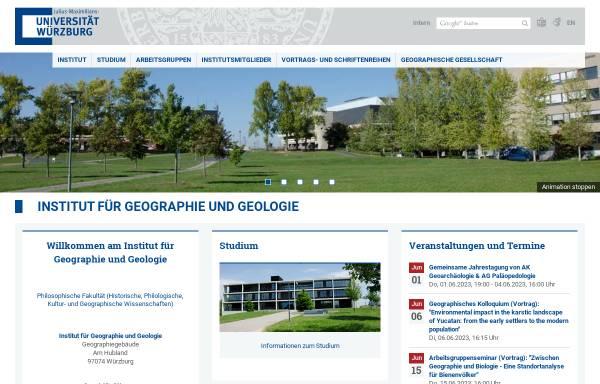 Vorschau von www.geographie.uni-wuerzburg.de, Geographisches Institut der Universität Würzburg